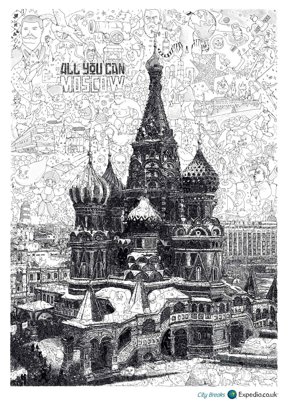 Expedia Print Ad -  Moscow
