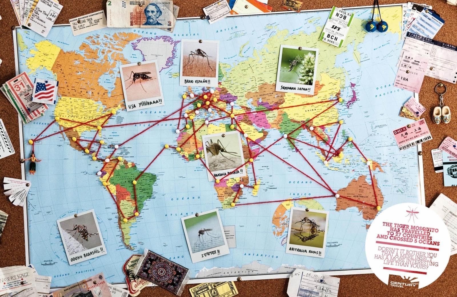 Century Travel Print Ad -  Tiger Mosquito