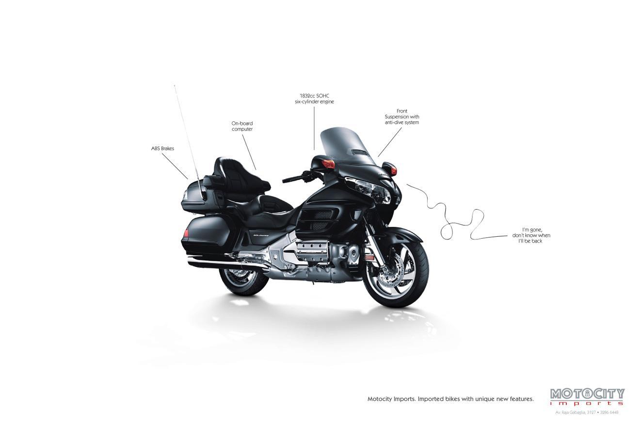 Motocity Imports Print Ad -  Back