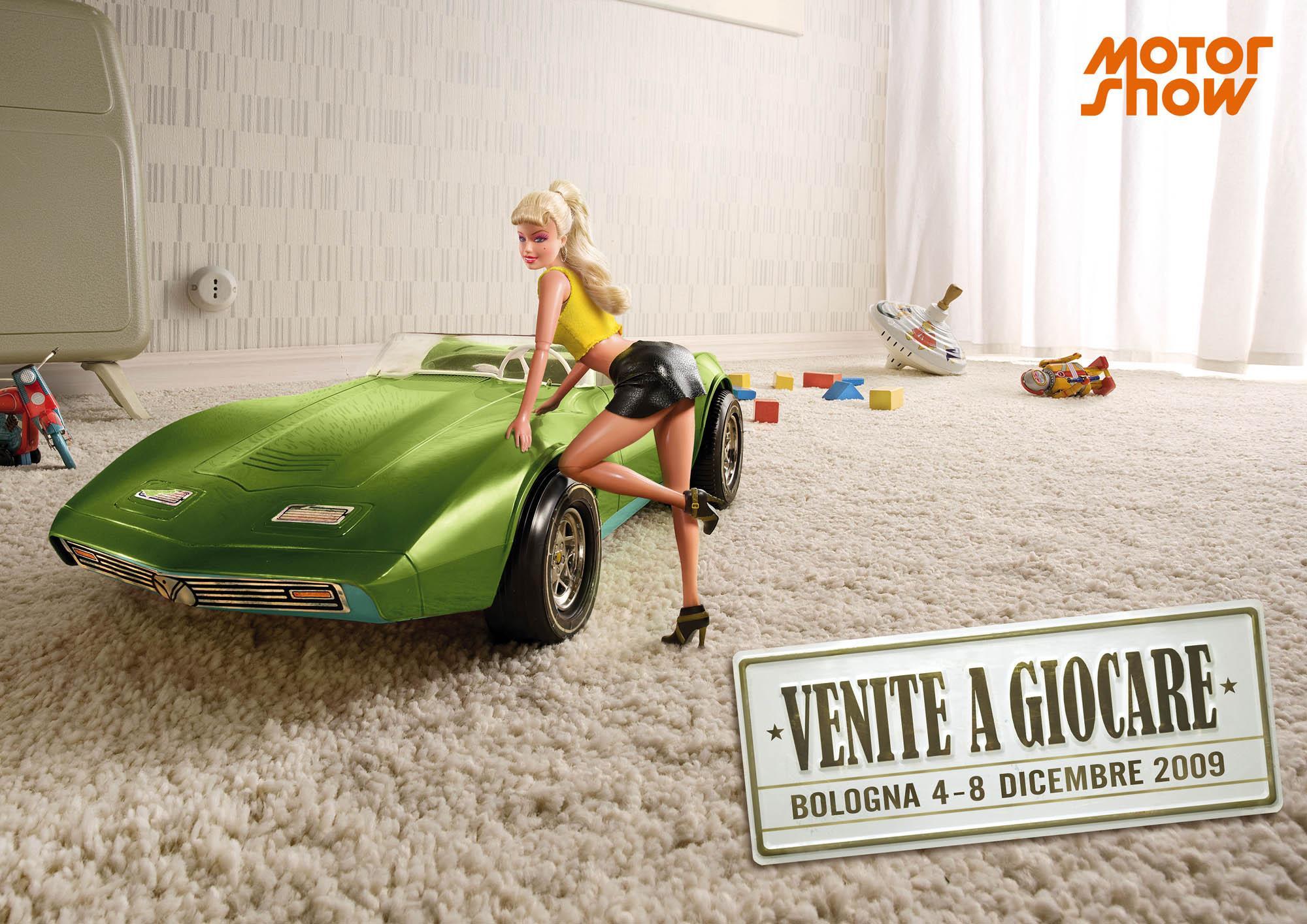Motor Show Print Ad -  Blonde girl