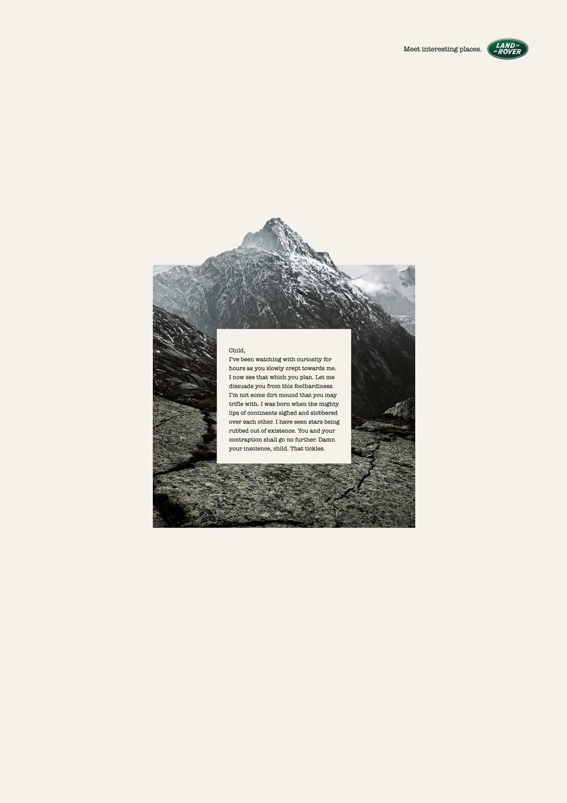 Land Rover Print Ad -  Mountain