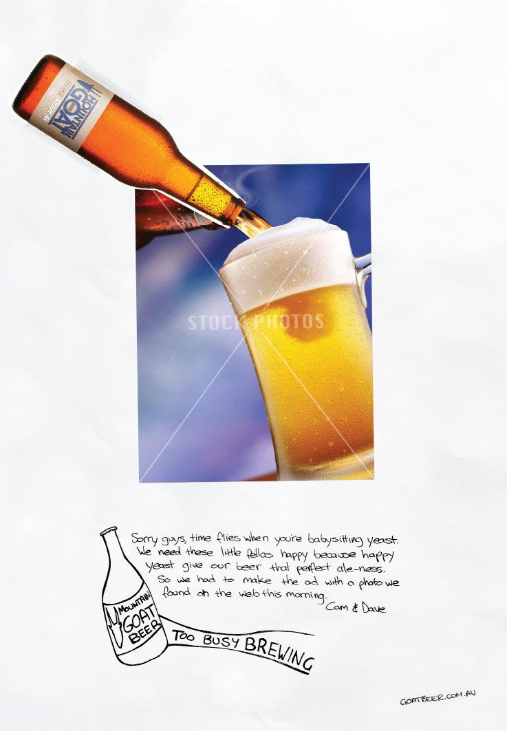 Mountain Goat Print Ad -  Too busy brewing, 3