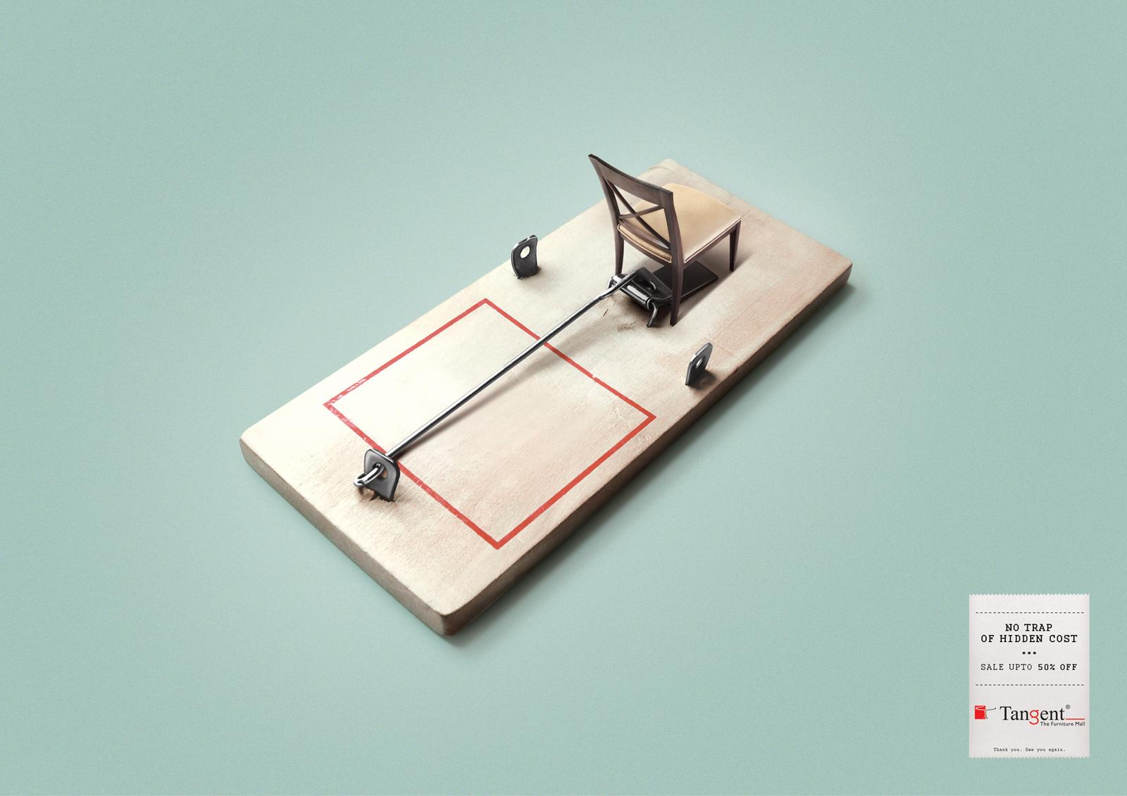 Tangent Furniture Print Ad -  Mouse trap
