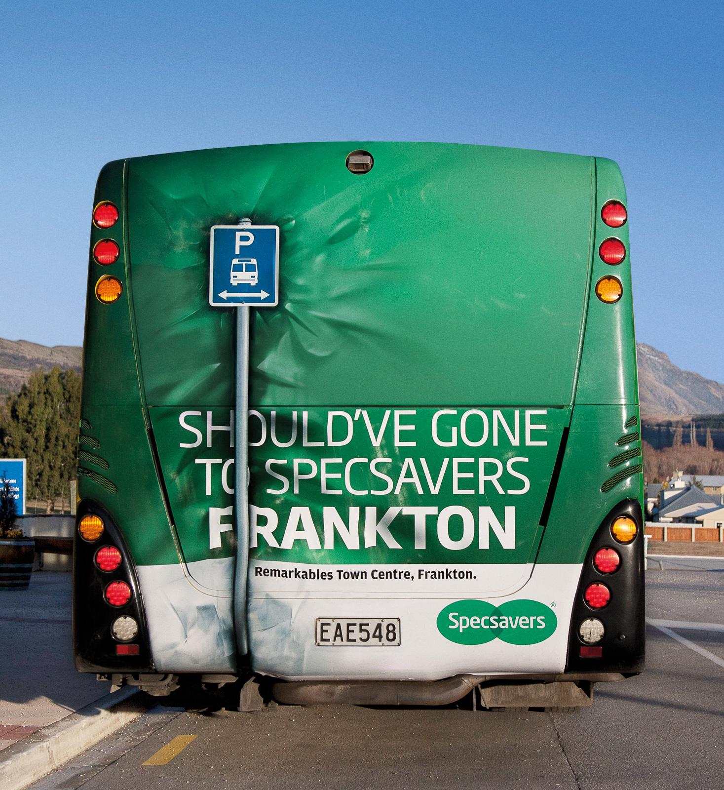 Specsavers Outdoor Ad -  Bus Back Crash