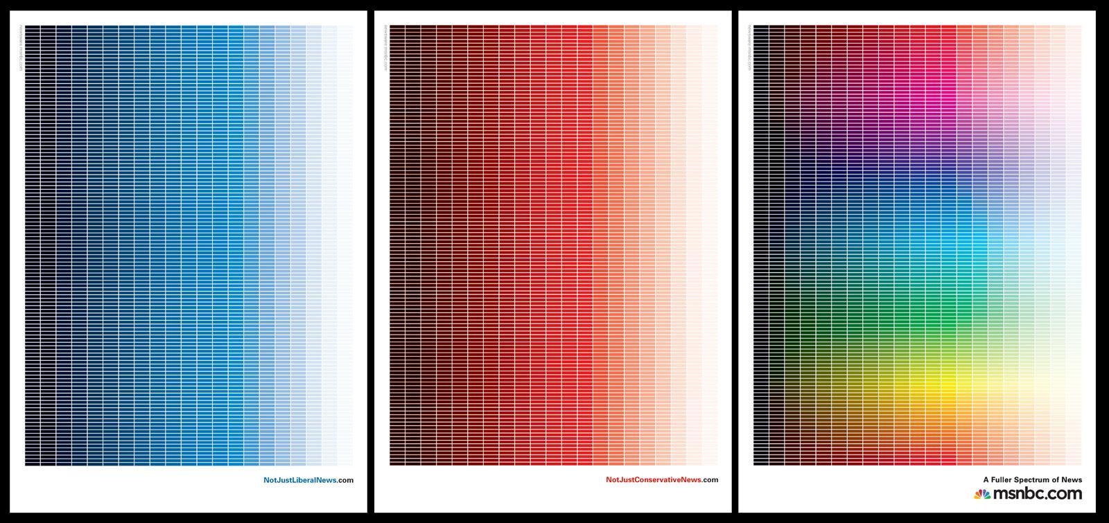 msnbc Print Ad -  A fuller spectrum of news