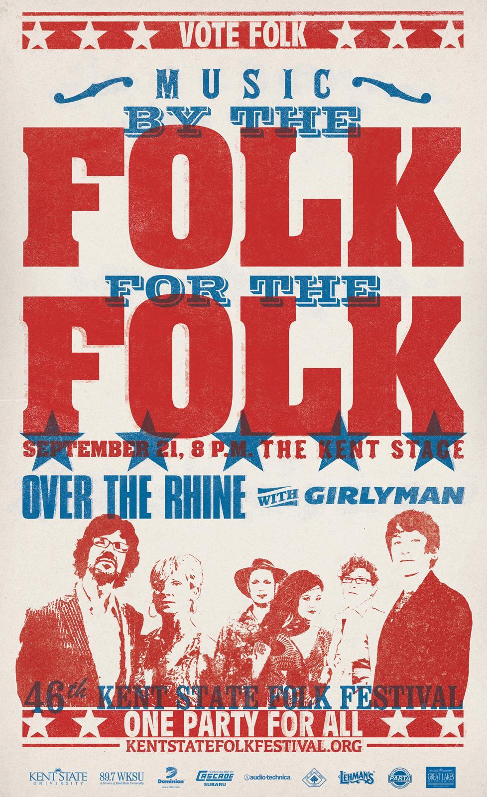 Kent State Folk Festival Outdoor Ad -  Vote Folk, 1