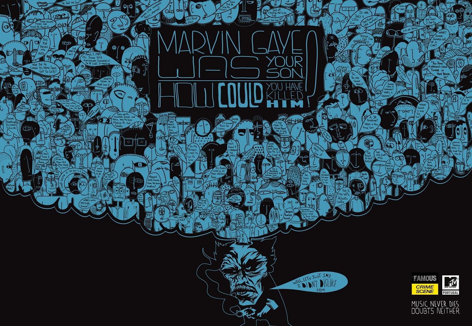 MTV Print Ad -  Marvin Gaye