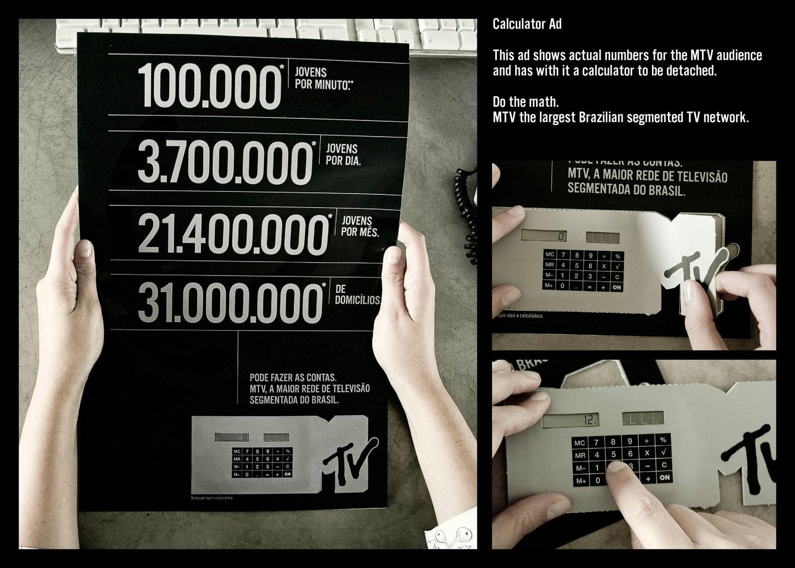 MTV Direct Ad -  Calculator