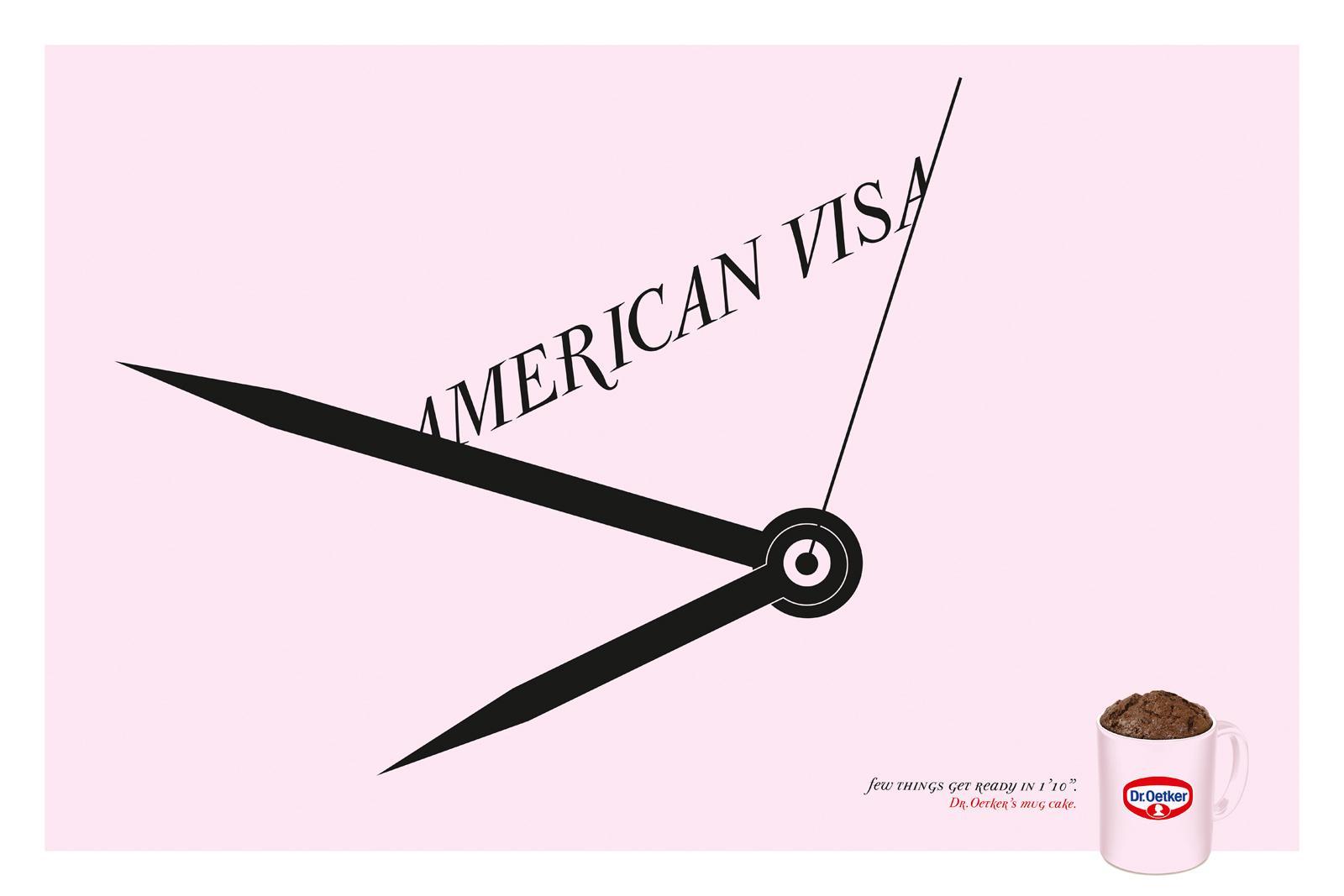 Dr. Oetker Print Ad -  American visa