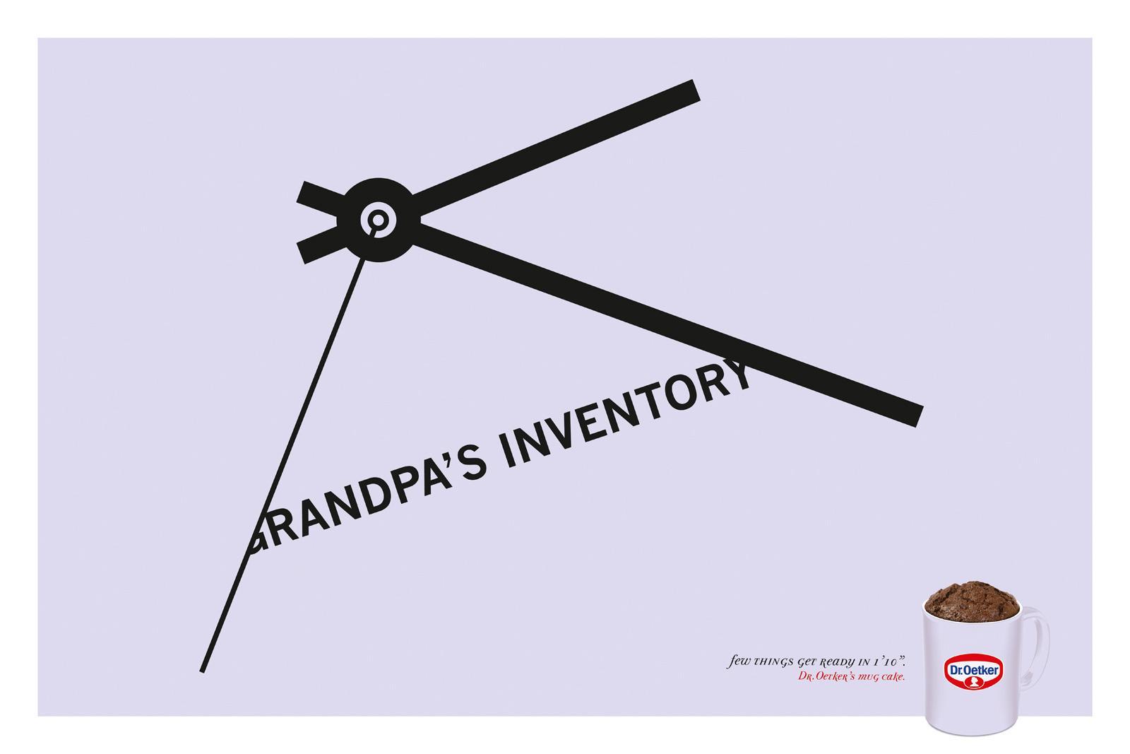 Dr. Oetker Print Ad -  Grandpa's inventory