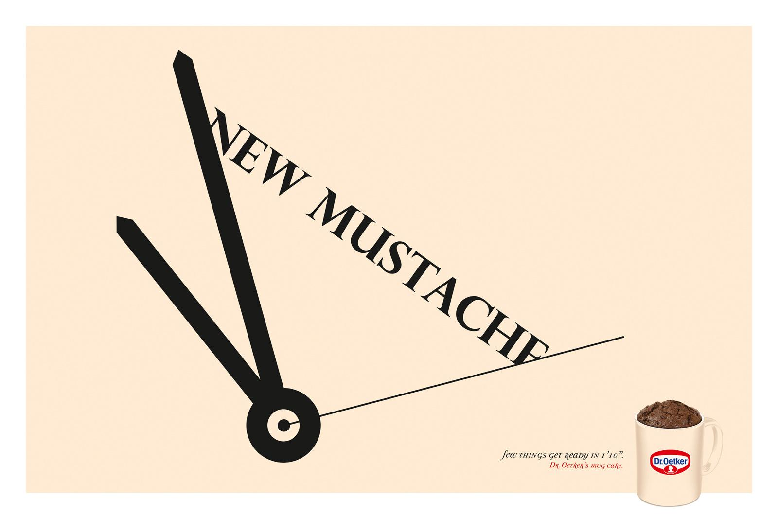 Dr. Oetker Print Ad -  New mustache