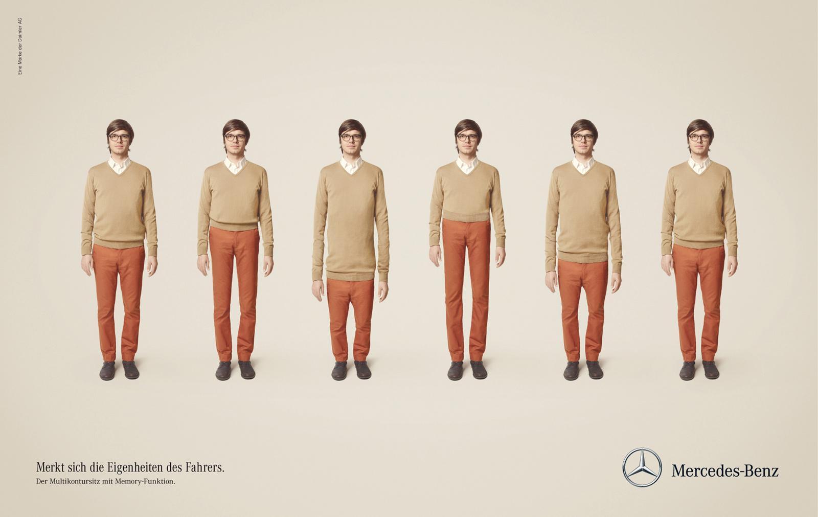 Mercedes Print Ad -  Multicontour Seat