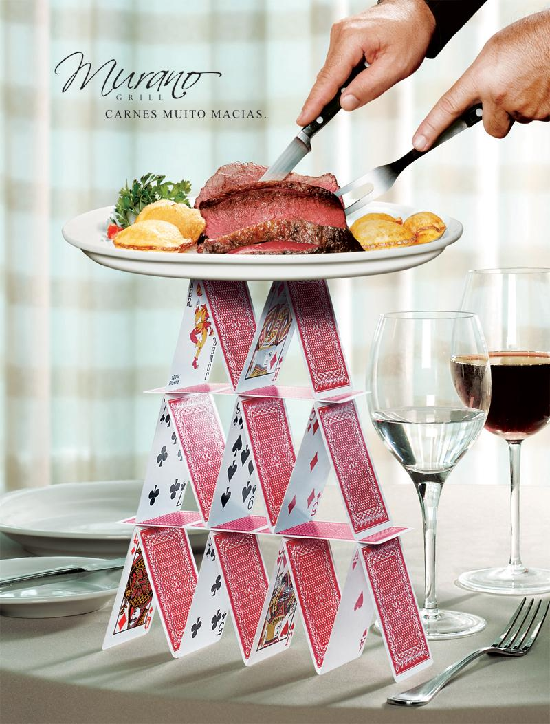 Murano Grill Print Ad -  Real tender meat