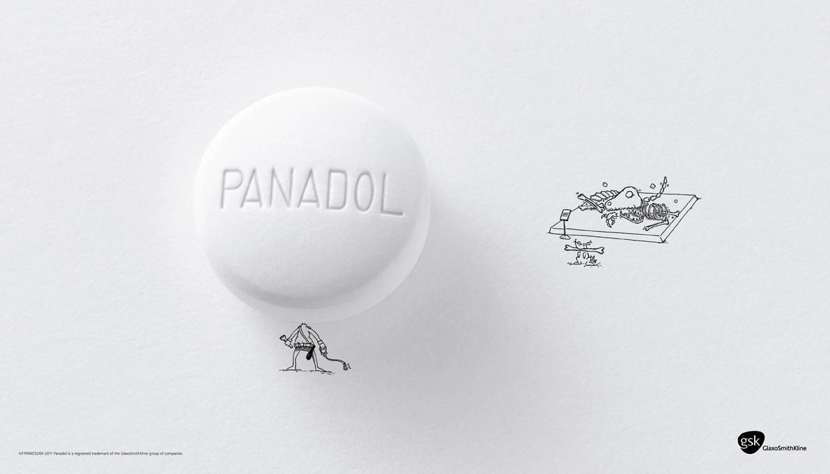 Panadol Print Ad -  Museum guard