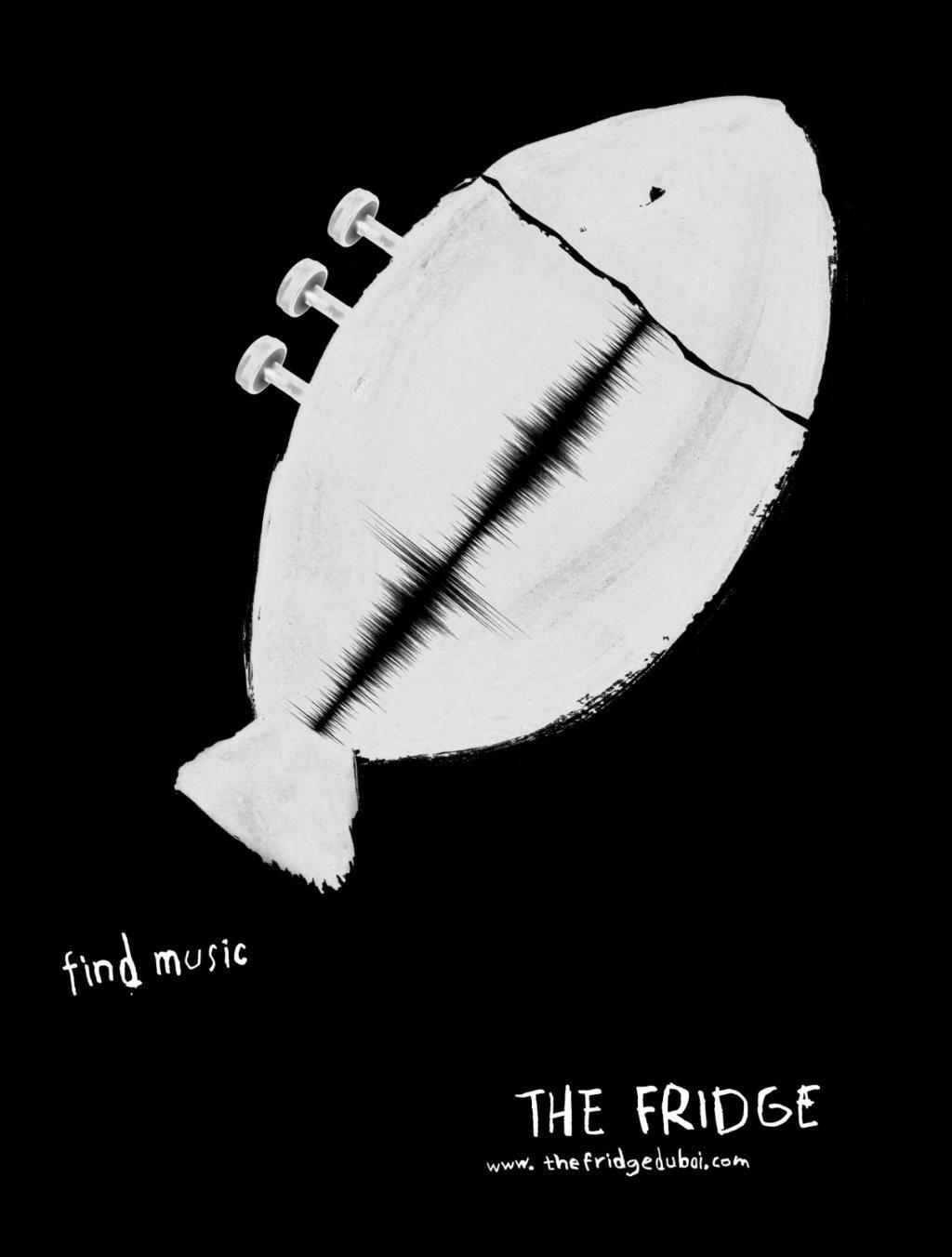 The Fridge Print Ad -  Fish