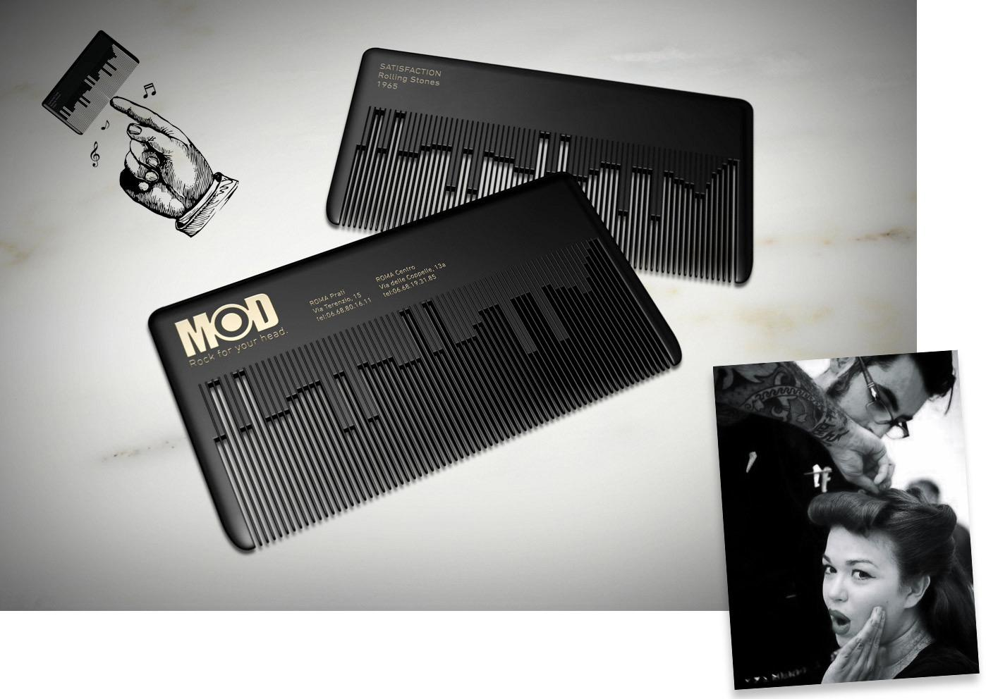 Musical comb businesscard