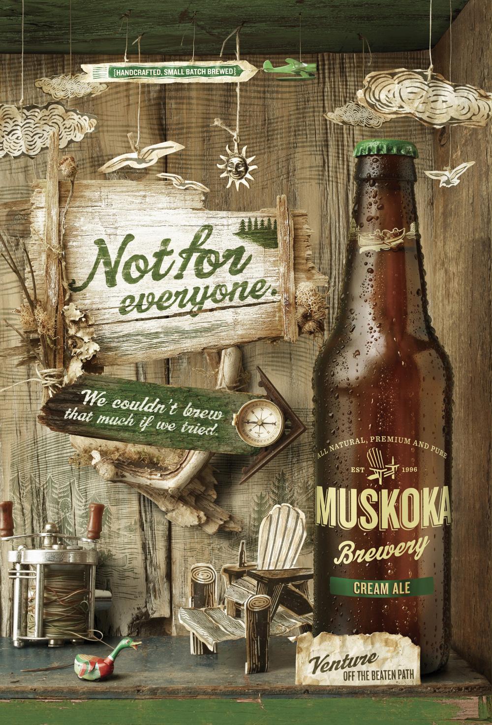Muskoka Print Ad -  Cream Ale