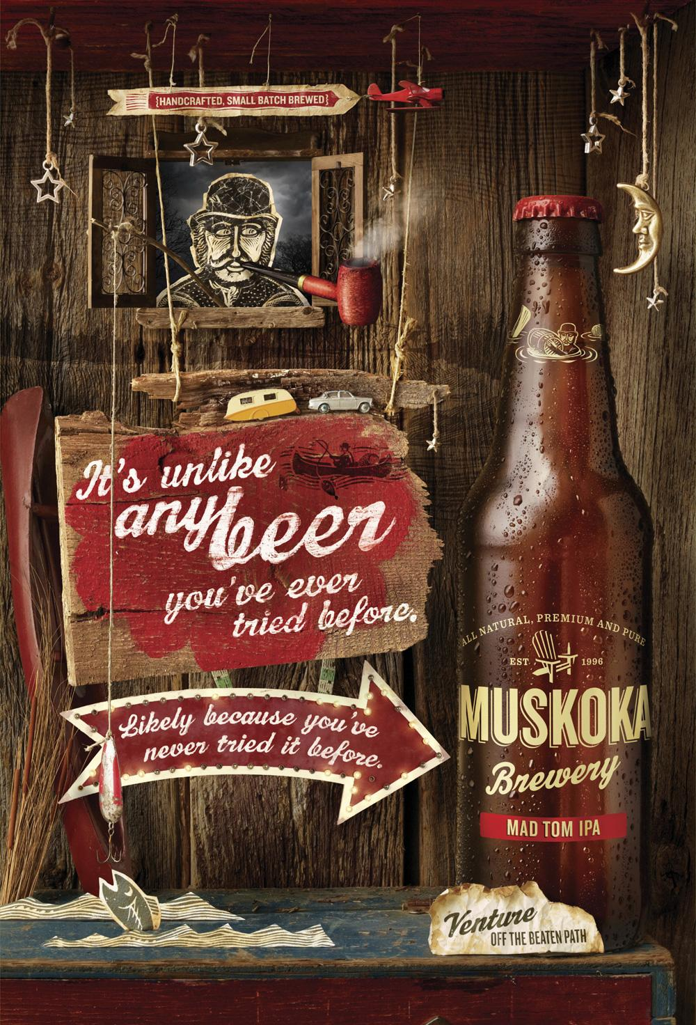 Muskoka Print Ad -  Mad Tom