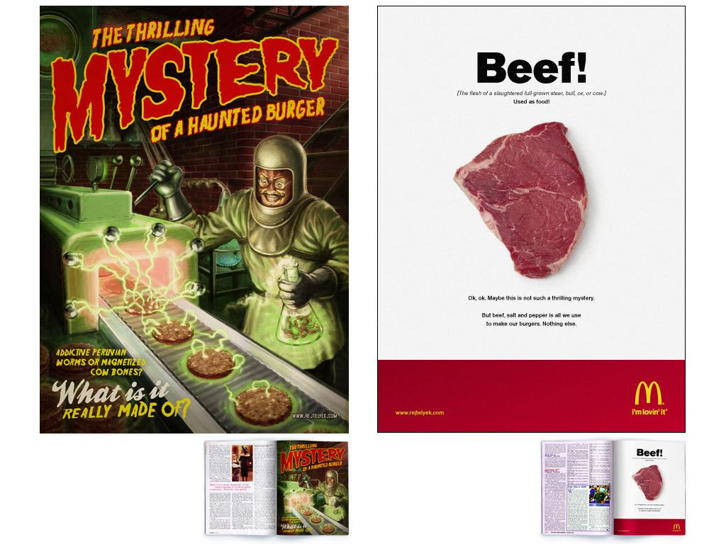 McDonald's Print Ad -  Burger mysteries