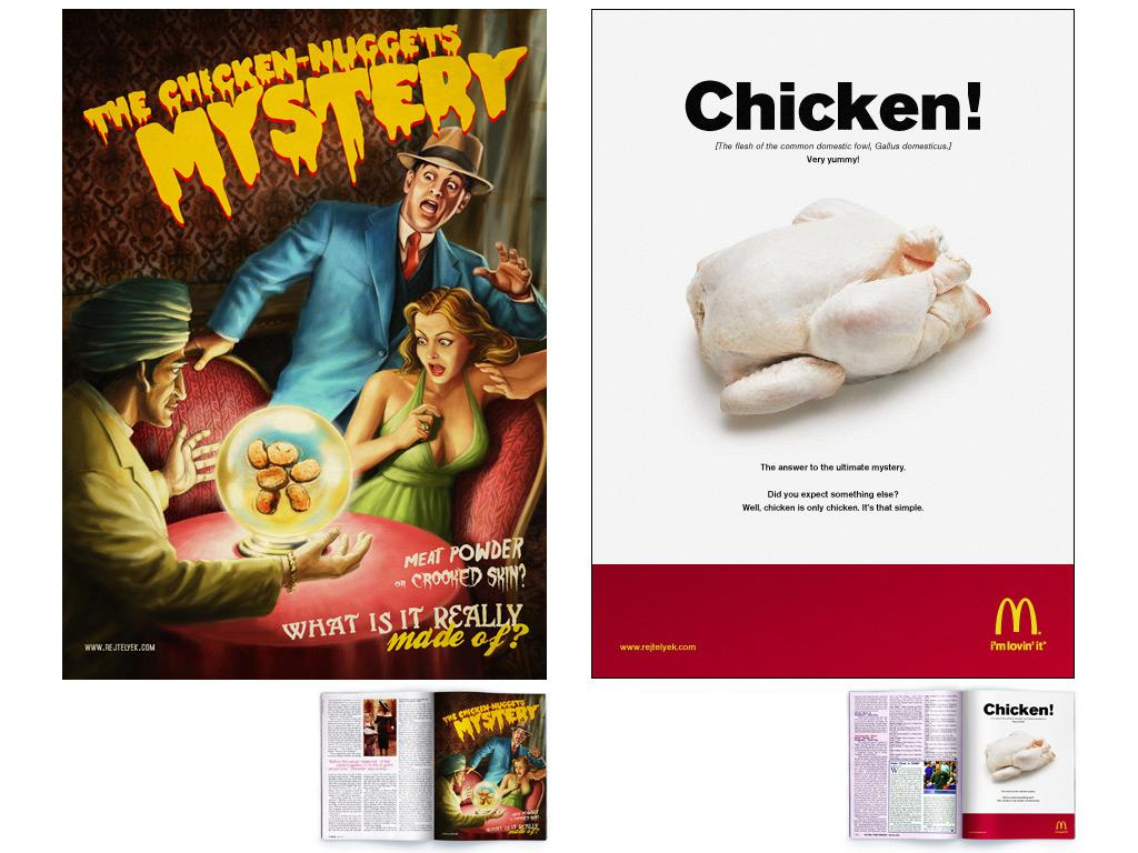 McDonald's Print Ad -  Chicken-nuggets mysteries