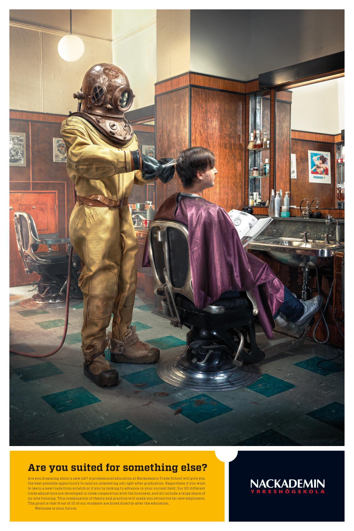 Nackademin Print Ad -  Hairdresser