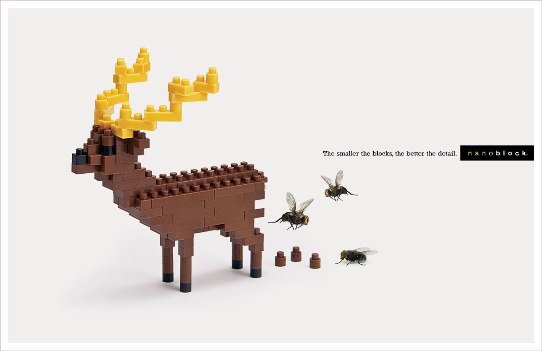 Nanoblock Print Ad -  Deer