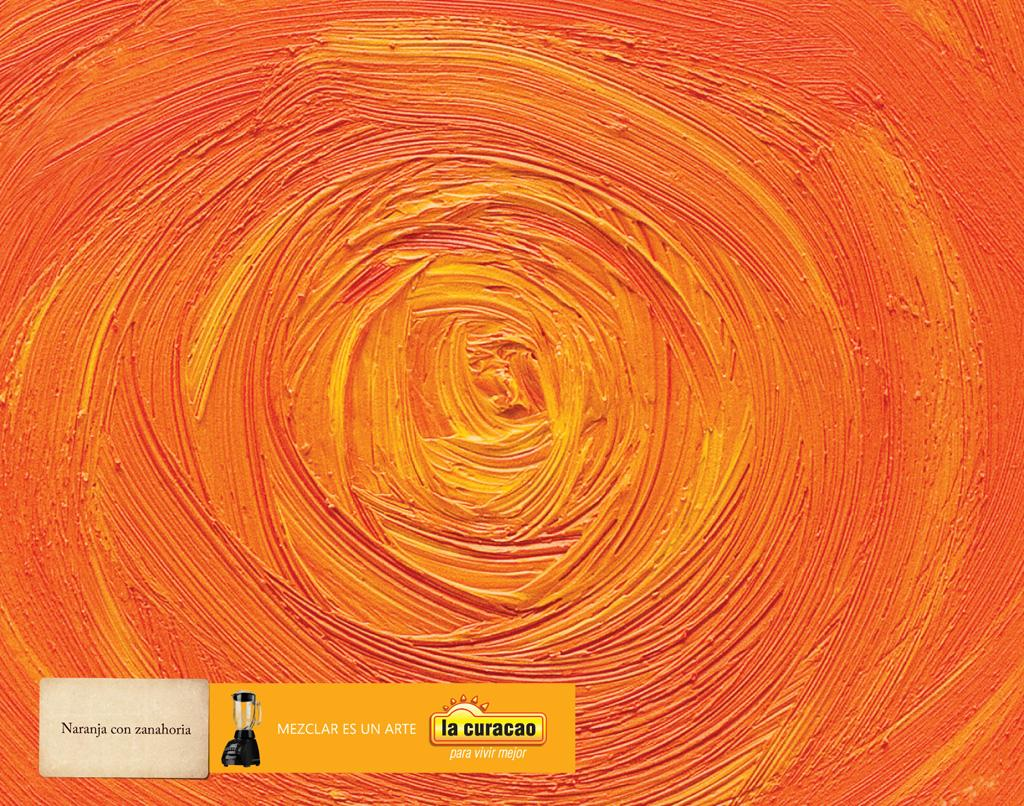 La Curacao Print Ad -  Orange with Carrot