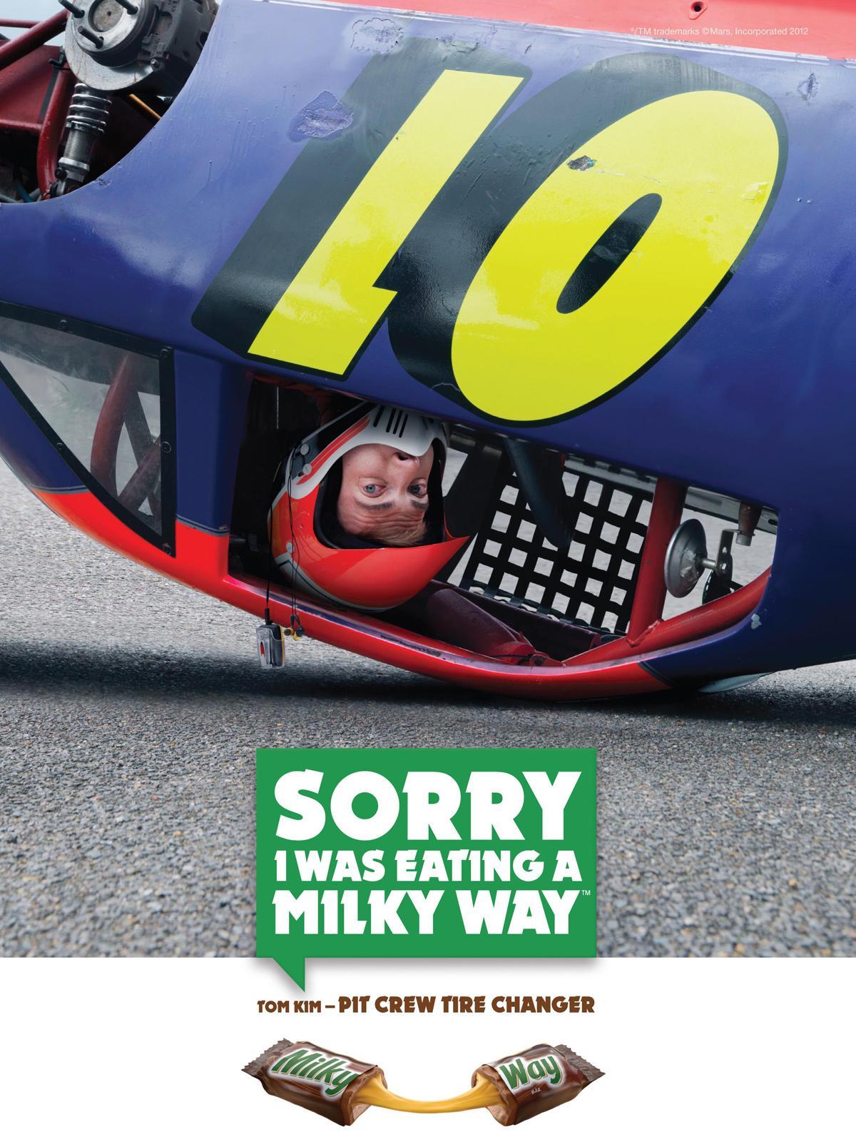 Milky Way Print Ad -  Nascar