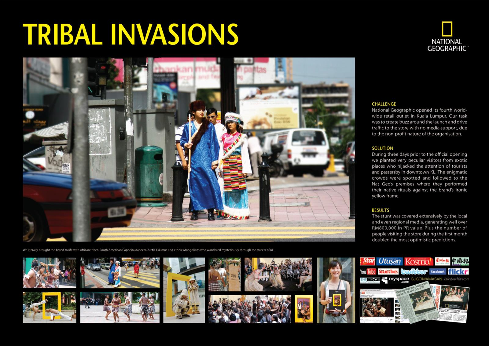 National Geographic Ambient Ad -  Tribal Invasions