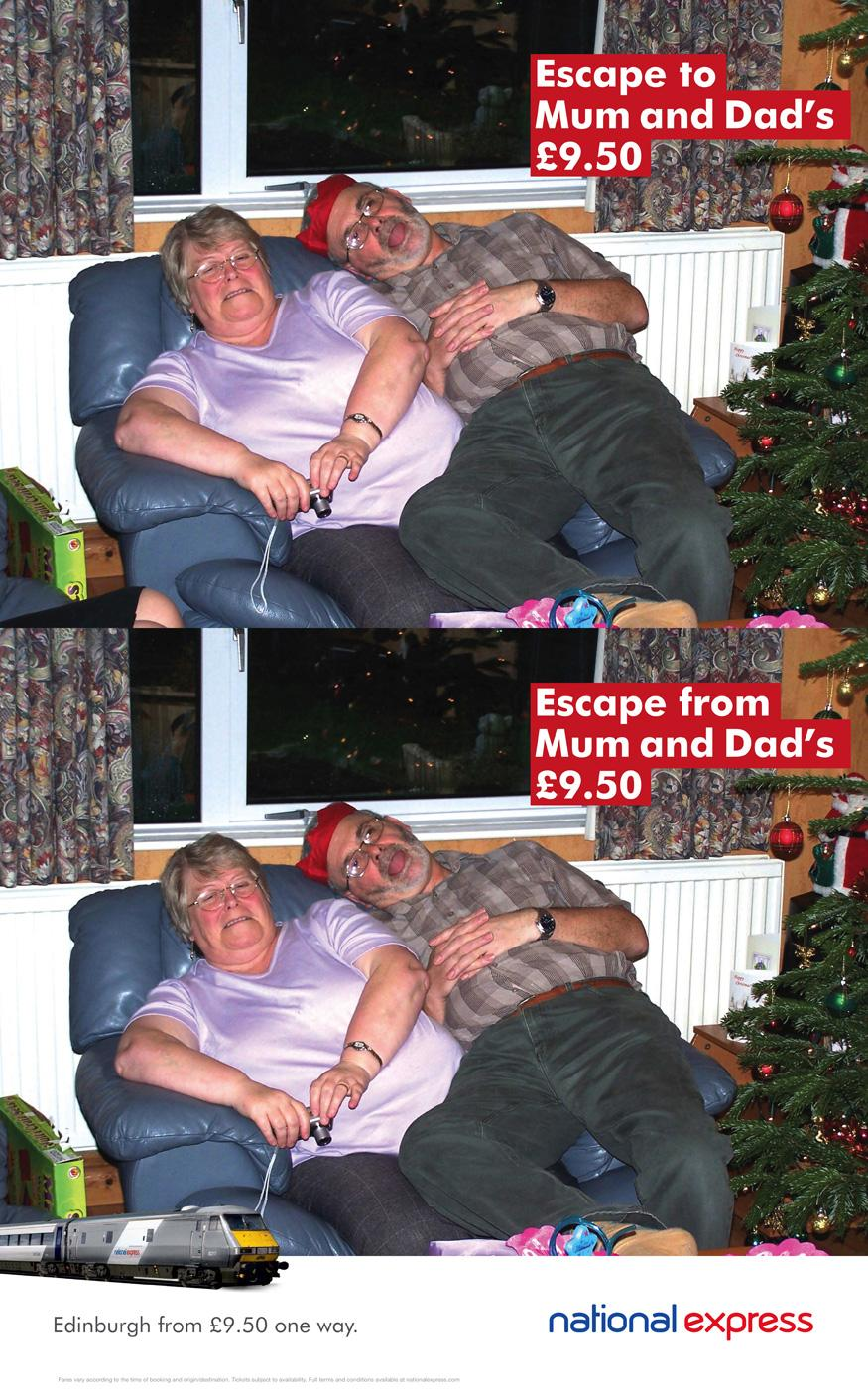 National Express Print Ad -  Escape, 2
