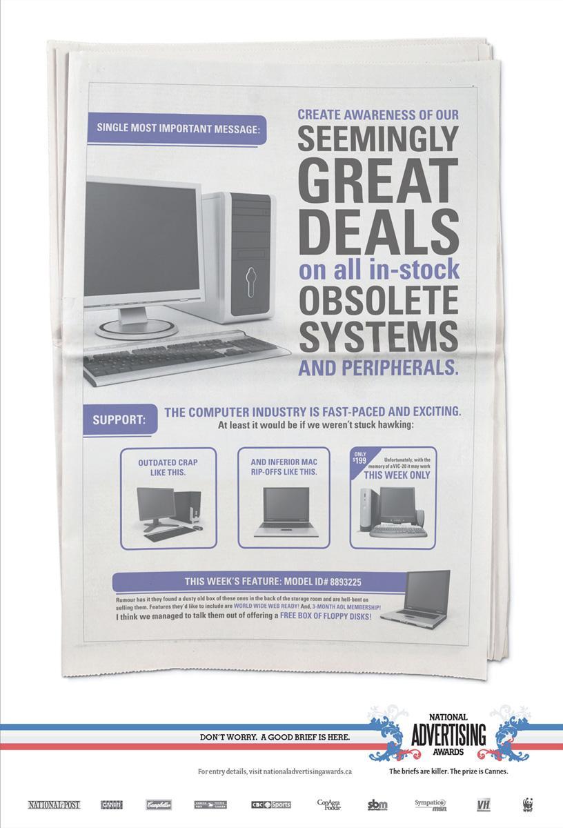 National Advertising Awards Print Ad -  Computers