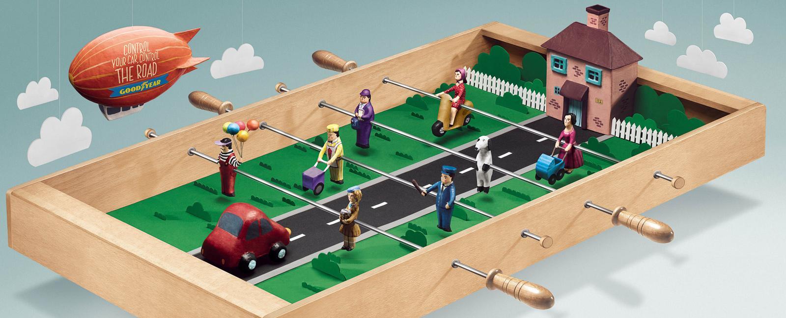 Goodyear Outdoor Ad -  Foosball Table, Neighbourhood