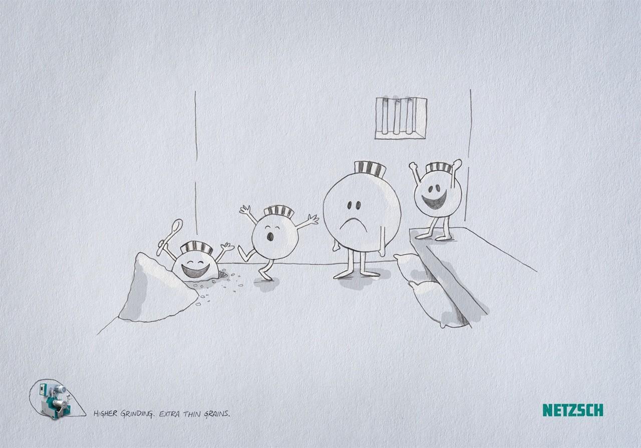 Netzsch Grinding Print Ad -  Prison