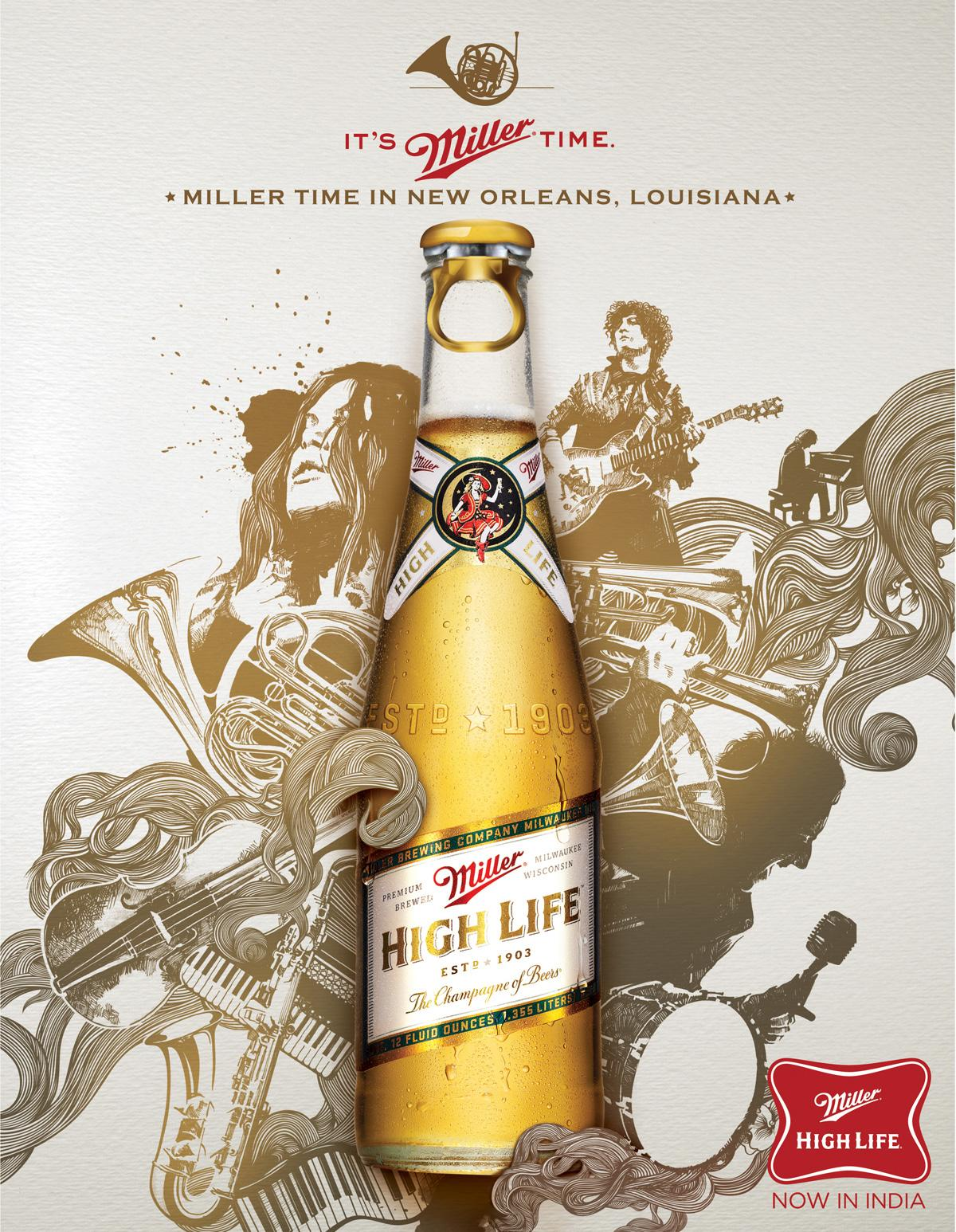 Miller Print Ad -  New Orleans
