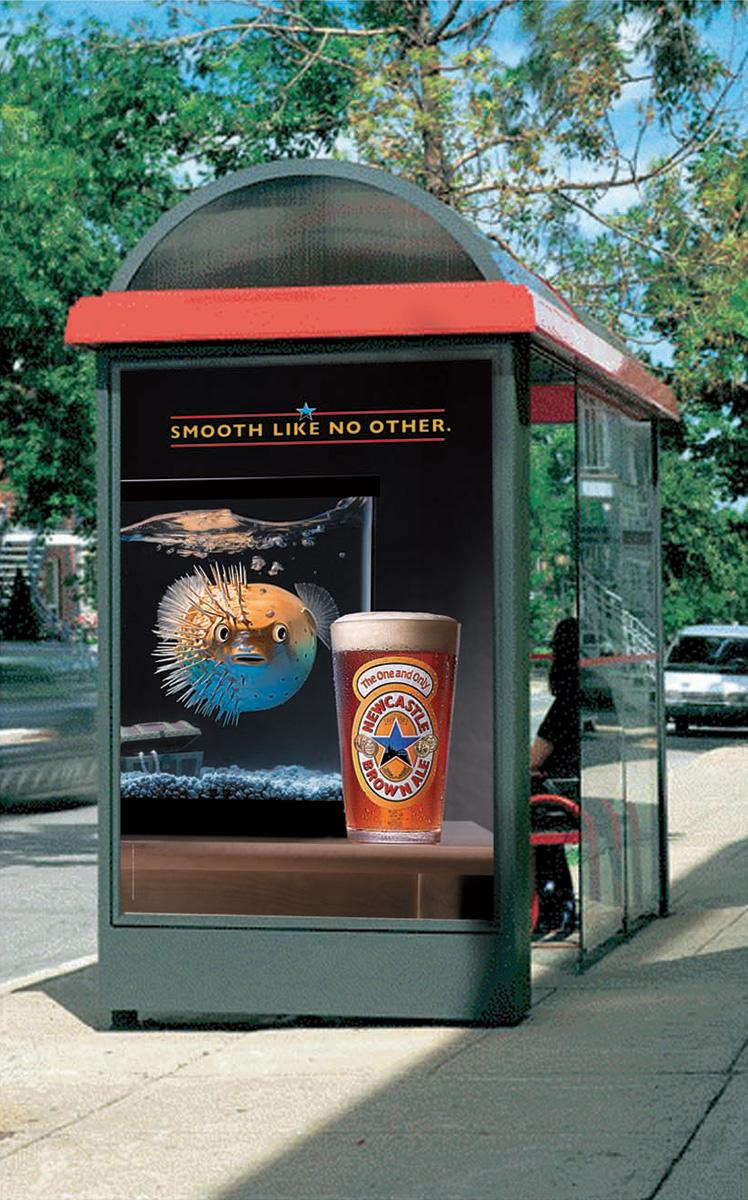 Newcastle Brown Ale Print Ad -  Blowfish