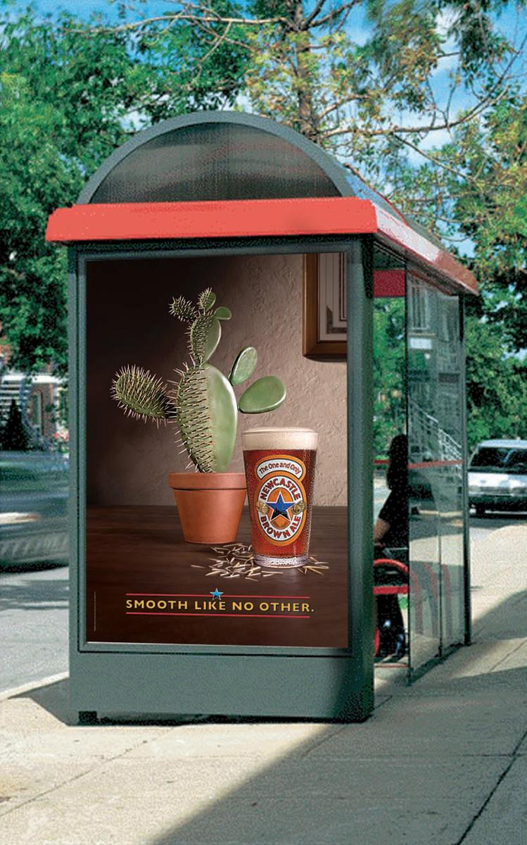 Newcastle Brown Ale Print Ad -  Cactus