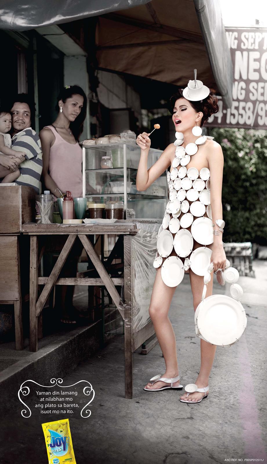 Joy Dishwashing Liquid Print Ad -  Fishballs