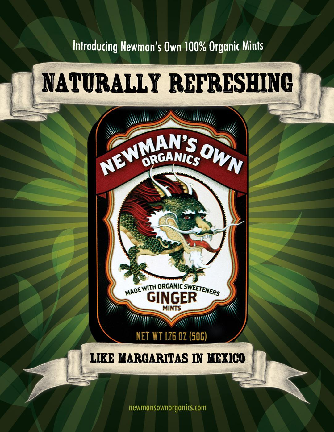 Newman's Own Organics Print Ad -  Ginger