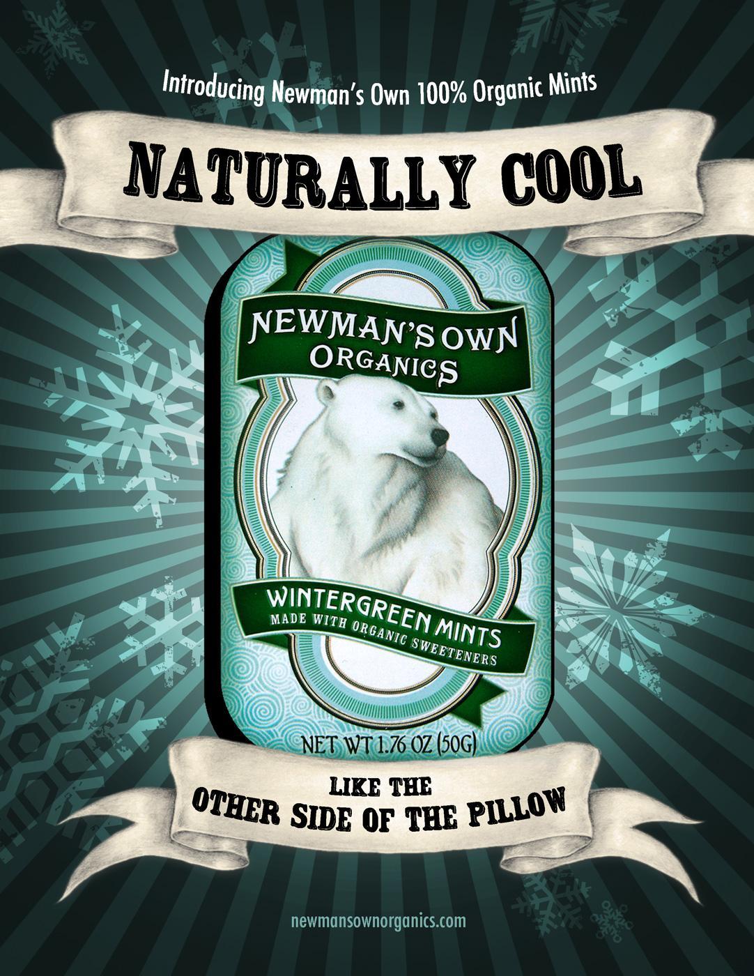 Newman's Own Organics Print Ad -  Wintergreen