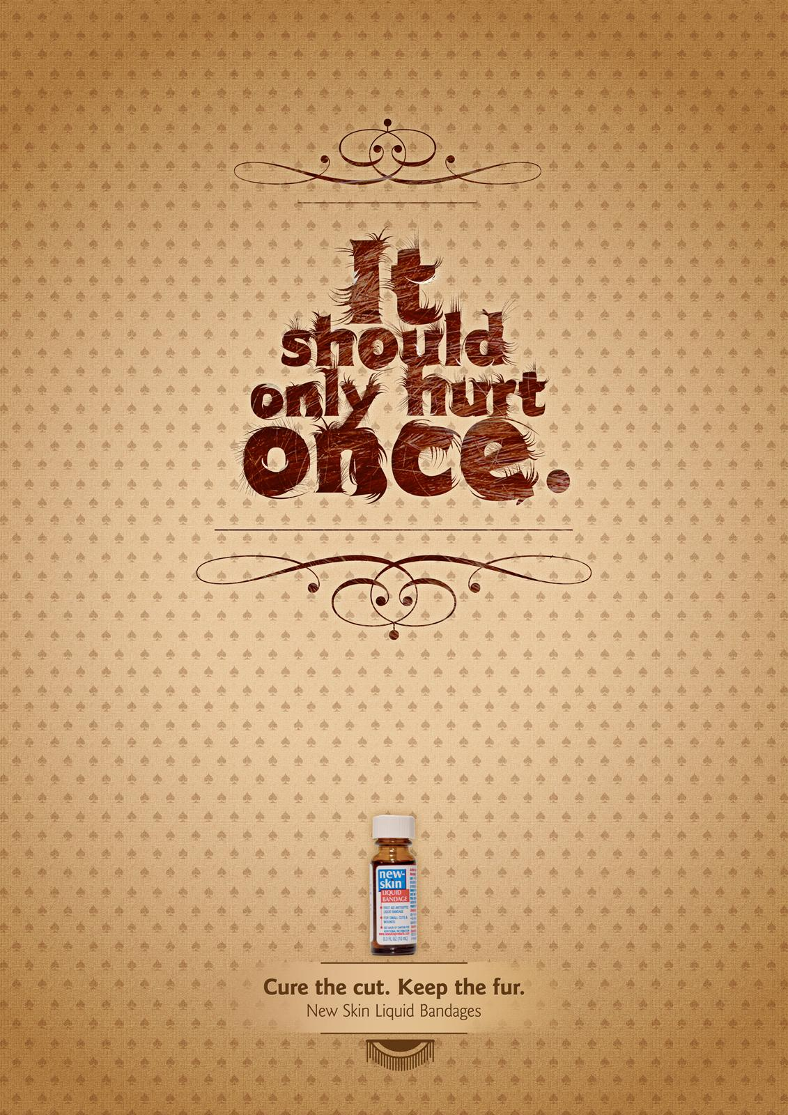 New-Skin Print Ad -  Hurt once
