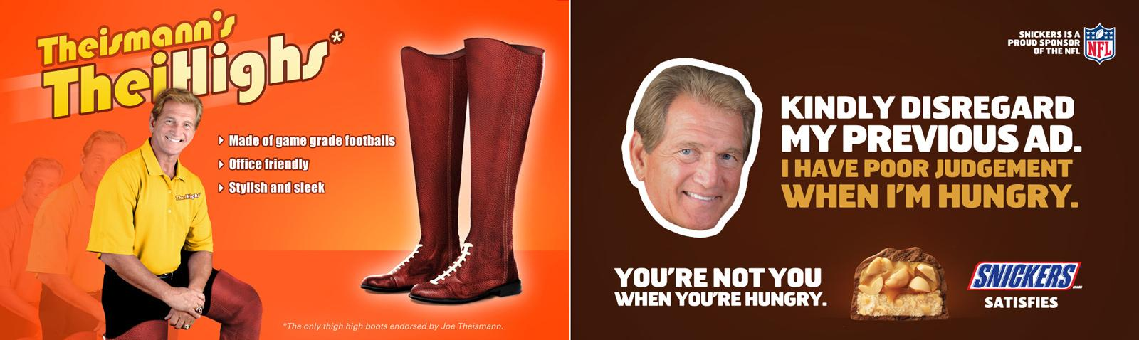 Snickers Print Ad -  Theismann's TheiHighs