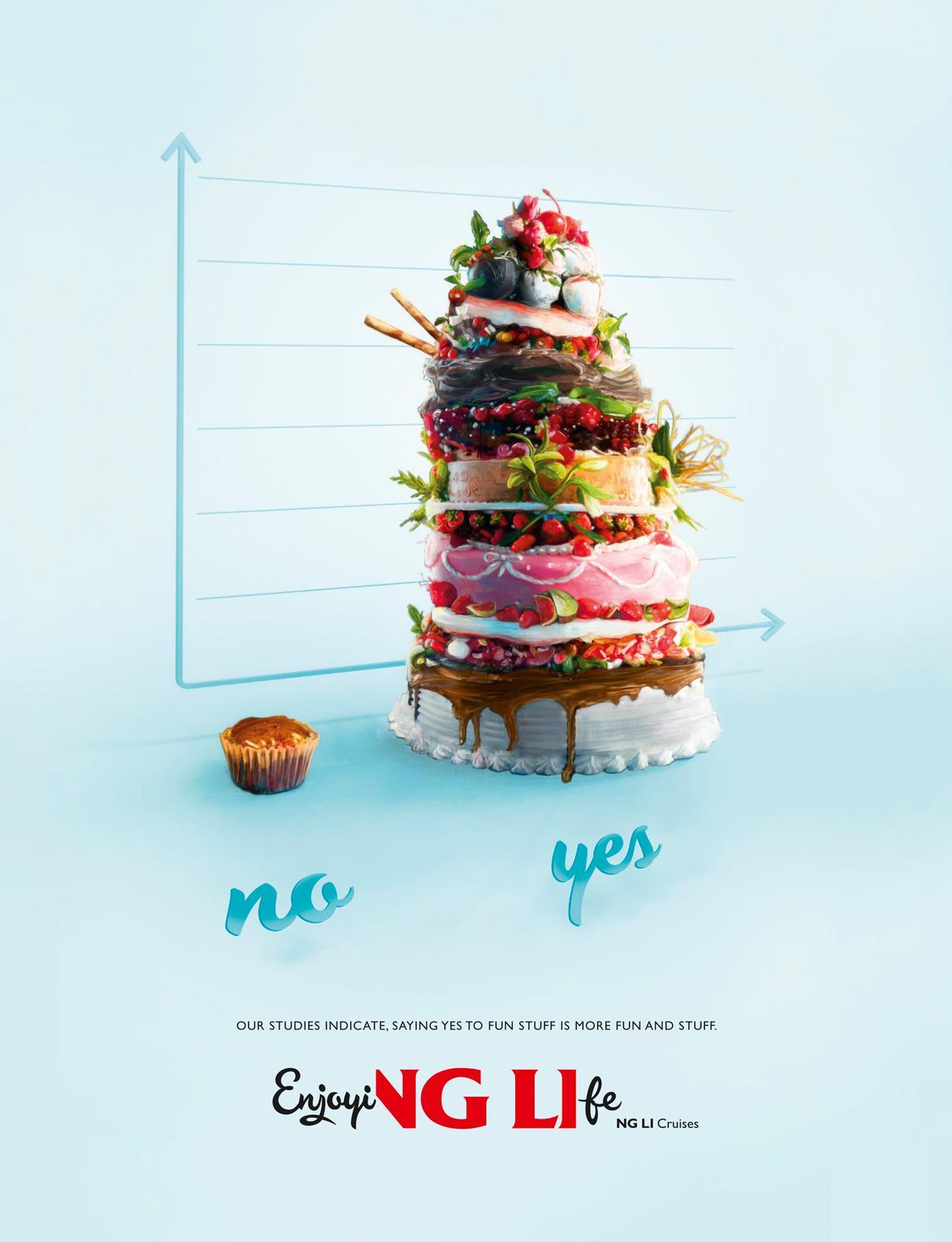 Viking Line Print Ad -  Fun And Stuff, Cake