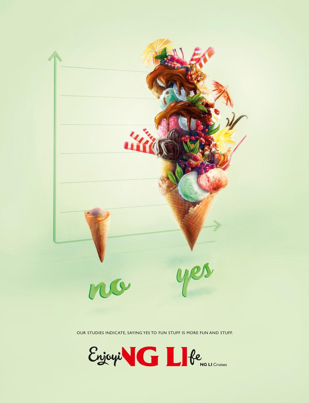 Viking Line Print Ad -  Fun And Stuff, Ice-cream