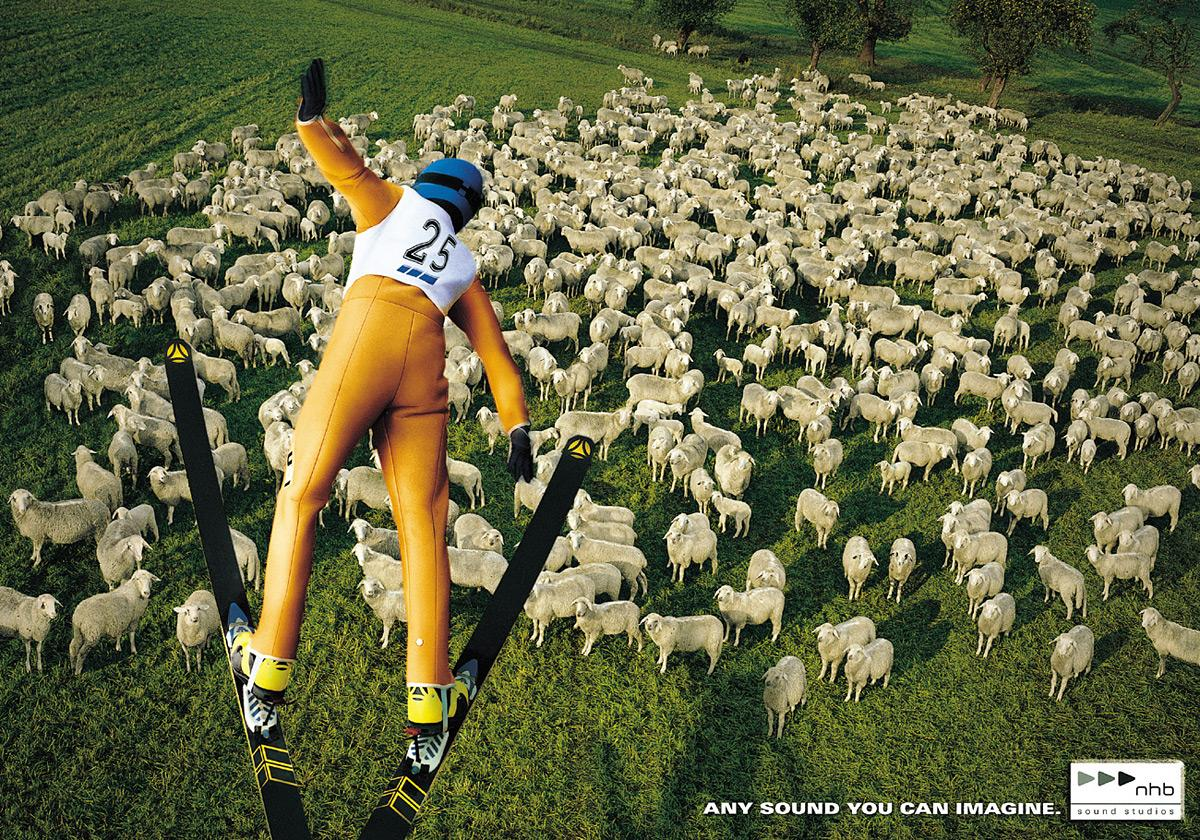 Sheep ski jumper