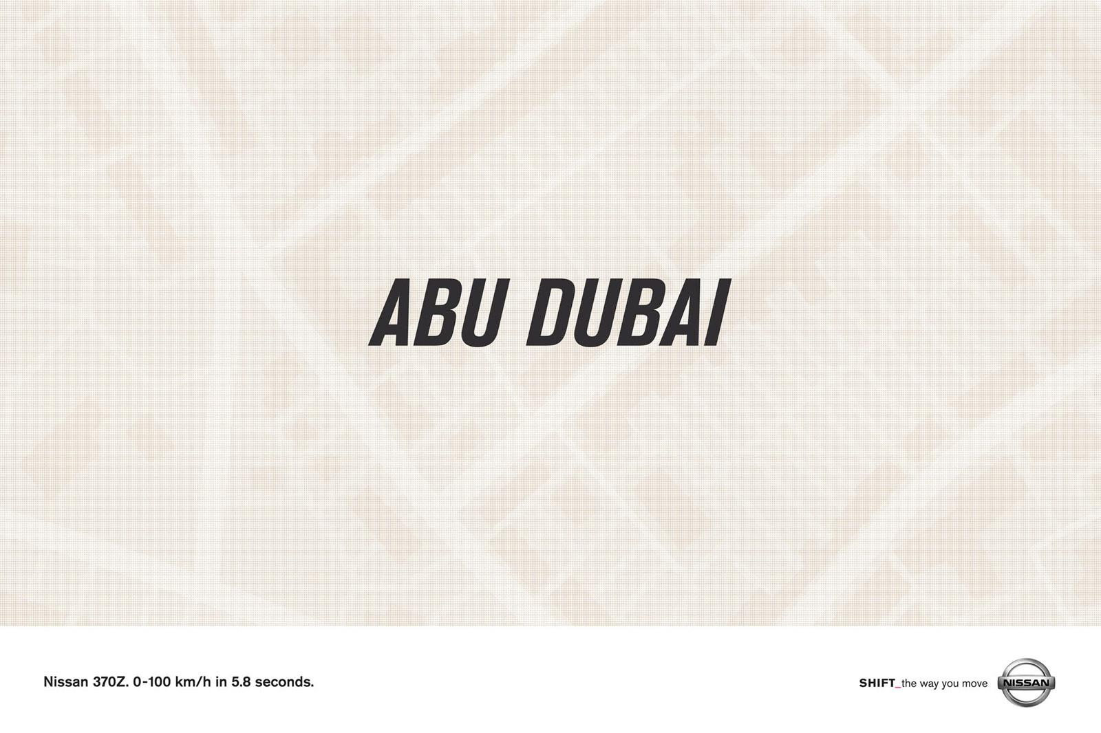 Nissan Print Ad -  Abu Dubai