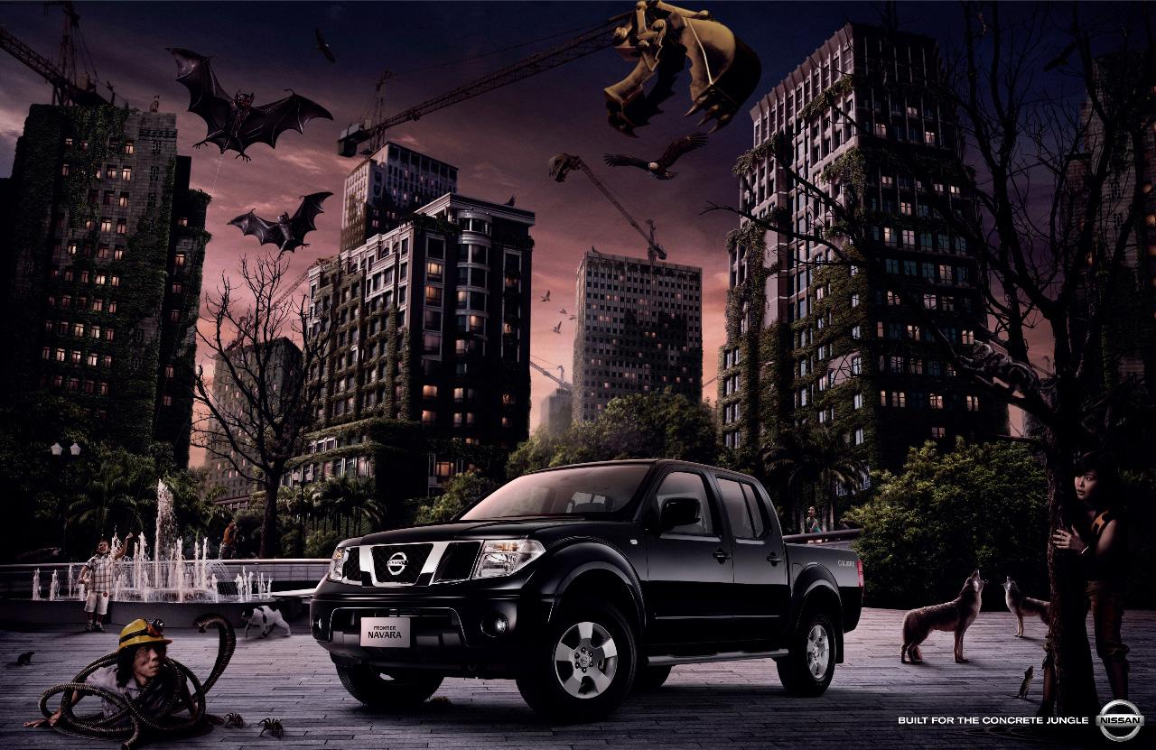 Nissan Print Ad -  Built for the concrete jungle
