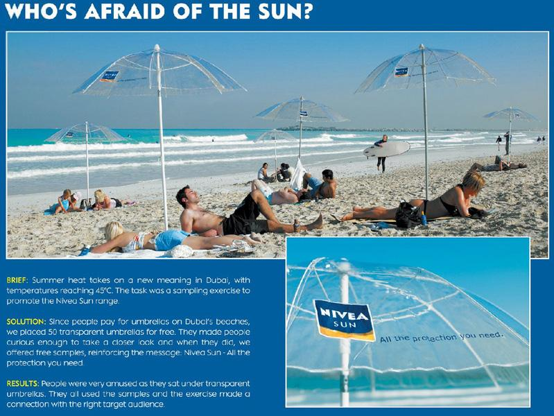 Nivea Ambient Ad -  Beach