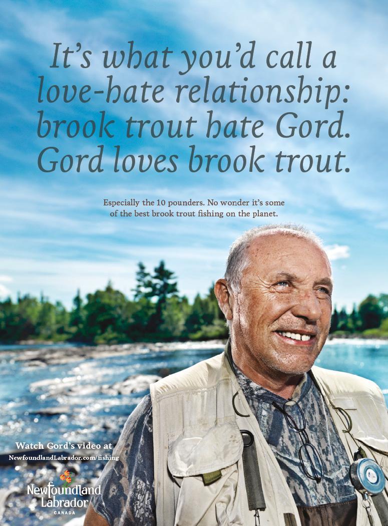 Newfoundland and Labrador Tourism Print Ad -  Trout