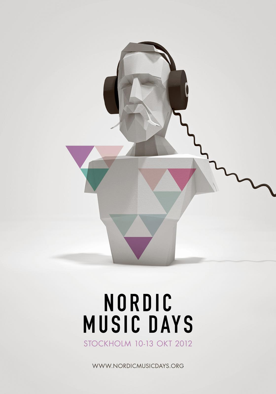 Nordic Music Days Outdoor Ad -  King Oscar II