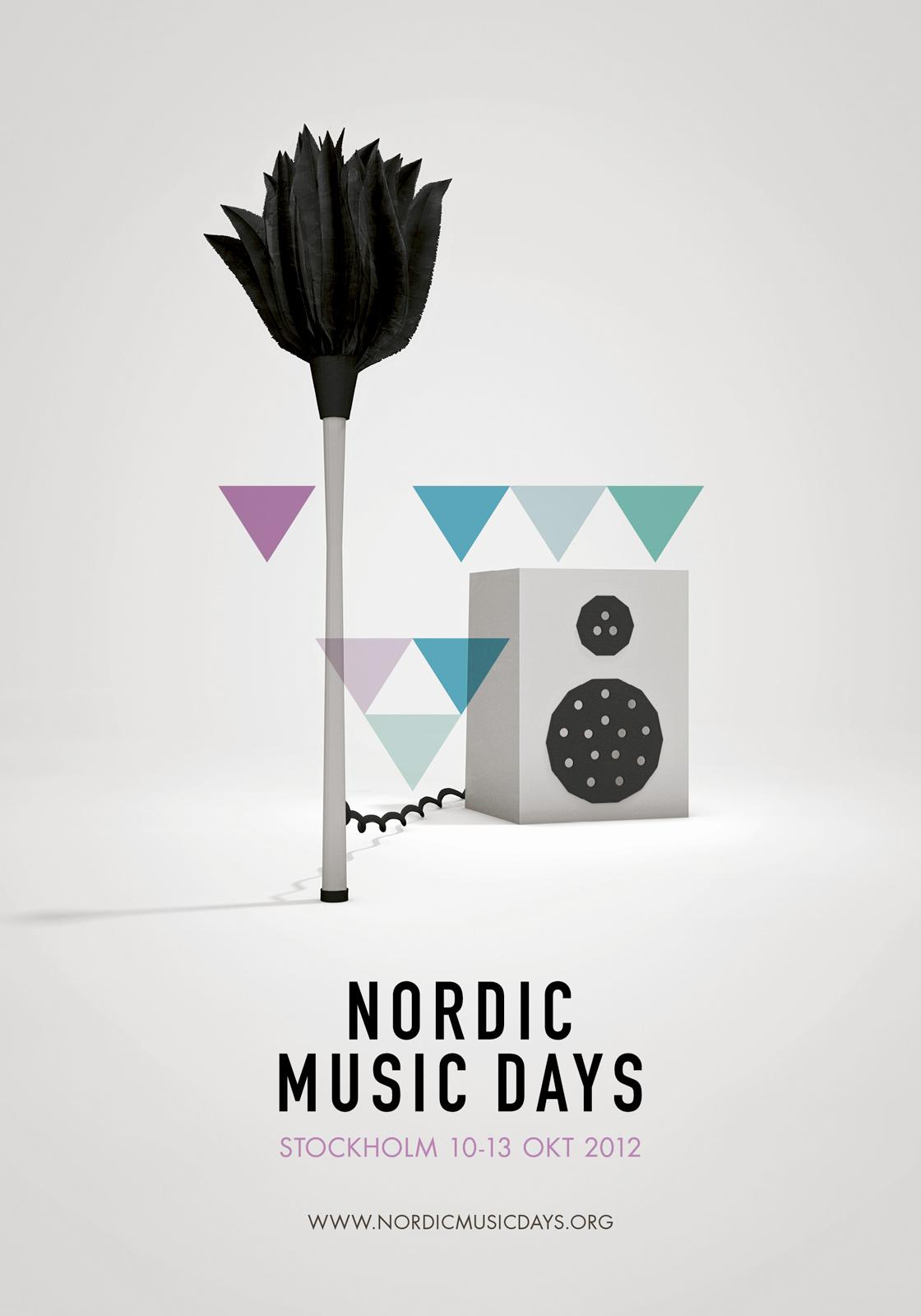 Nordic Music Days Outdoor Ad -  Feather duster